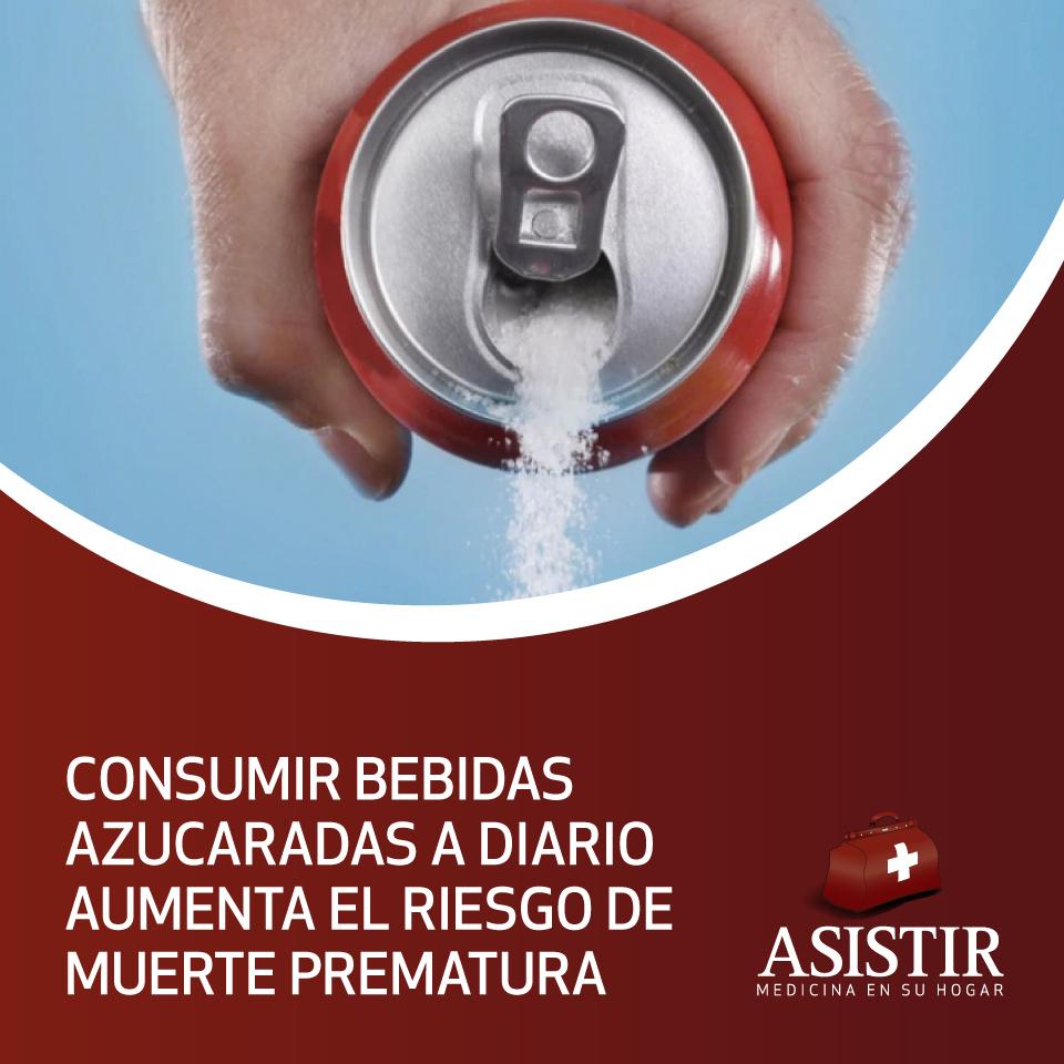 Consumir bebidas azucaradas a diario aumenta el riesgo de muerte prematura