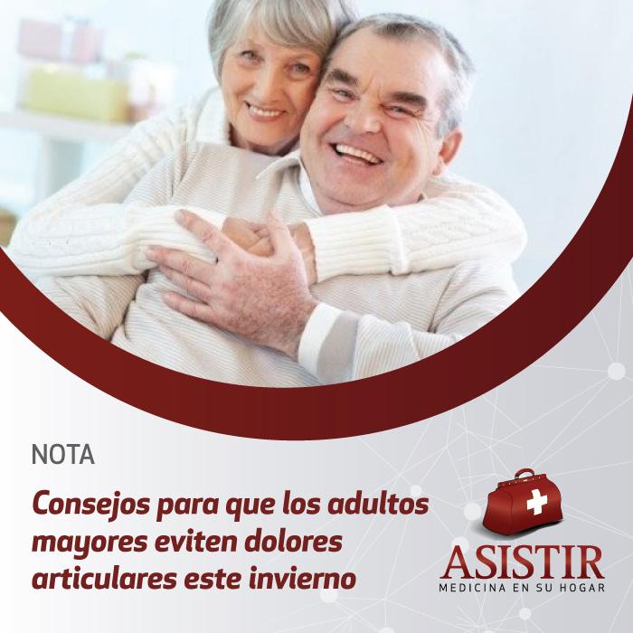 Consejos para que los adultos mayores eviten dolores articulares este invierno