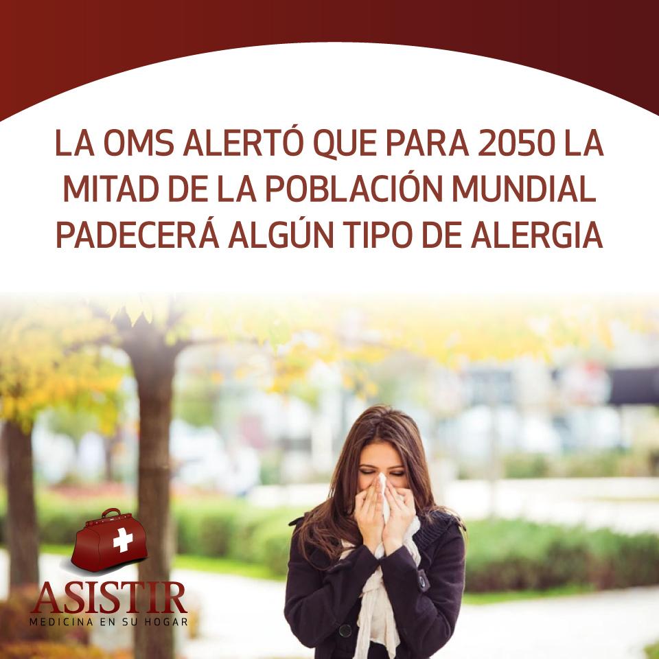 La OMS alertó que para 2050 la mitad de la población mundial padecerá algún tipo de alergia