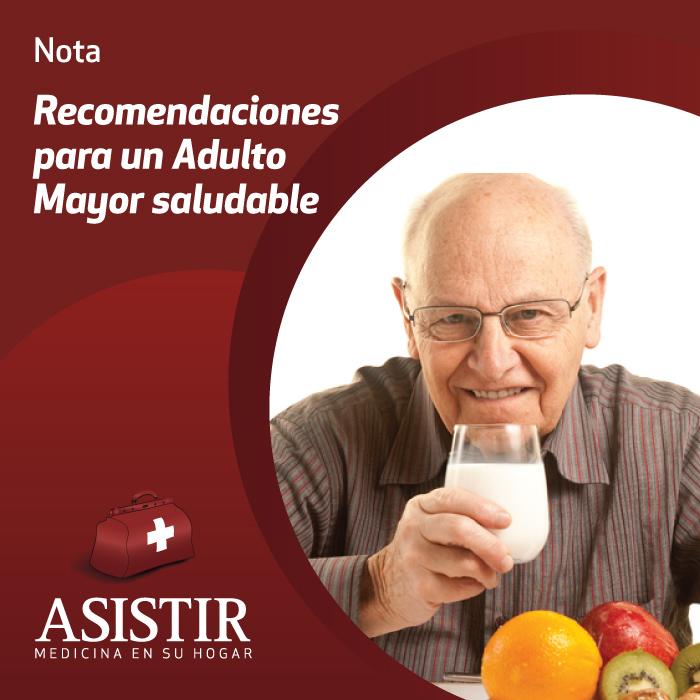 Recomendaciones para un Adulto Mayor saludable