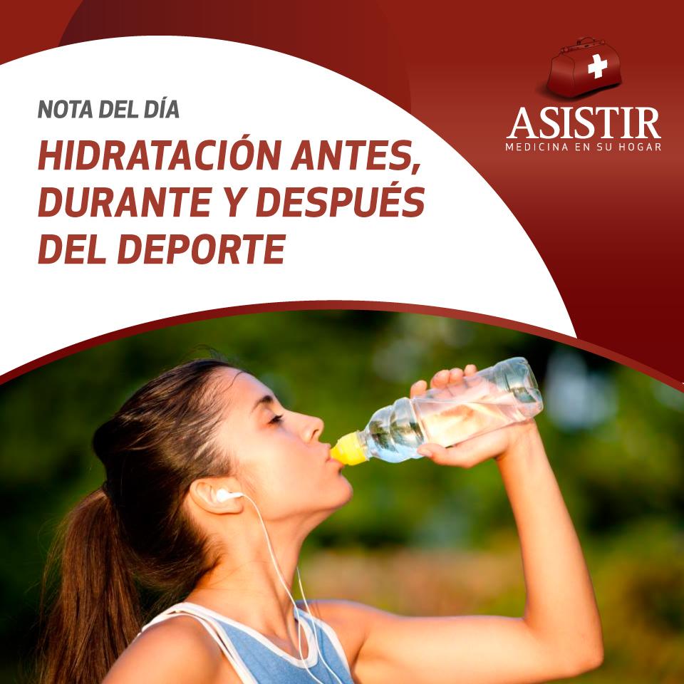 Hidratación antes, durante y después de la actividad física: el uso de bebidas deportivas