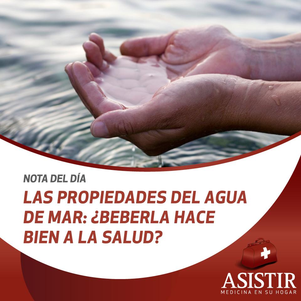 Las propiedades del agua de mar: ¿beberla hace bien a la salud?