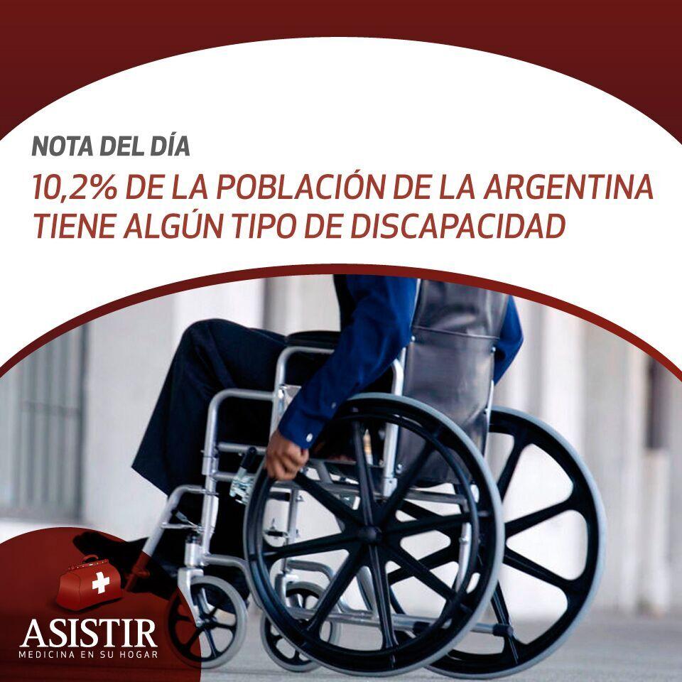 Según el INDEC, el 10,2% de la población de la Argentina tiene algún tipo de discapacidad