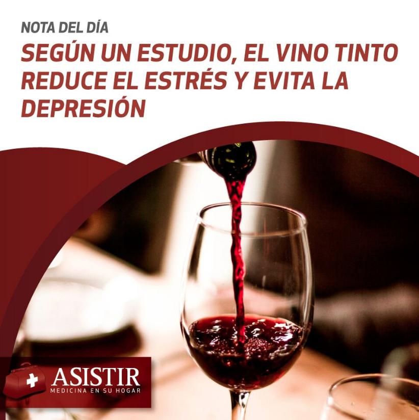 Según un estudio, el vino tinto reduce el estrés y evita la depresión